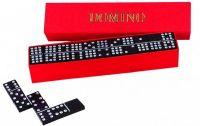 Domino společenská hra dřevo 28ks v krabičce 15,5x3,5x5cm Detoa