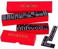 Domino společenská hra dřevo 55ks v krabičce 23,5x3,5x5cm Detoa