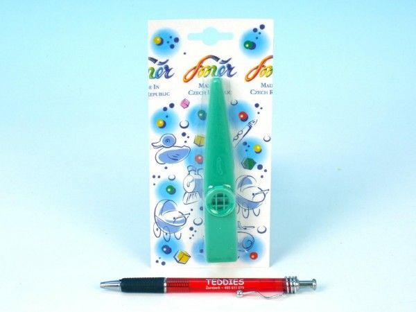 Kazoo plast 12cm asst 4 barvy na kartě Směr
