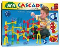 Kuličková dráha kaskáda 48ks + 20 kuliček v krabici 40x30x8,5cm Lena