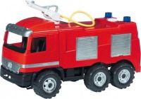 Mercedes auto hasiči plast 60cm nosnost 50kg v krabici Lena