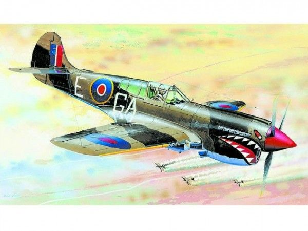 Model Curtiss P-40 K Kittyhawk MK.3 13,2x15,7cm v krabici 25x14,5x4,5cm Směr
