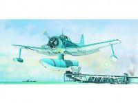 Model Curtiss SC-1 Seahawk 15,5x17,3cm v krabici 31x13,5x3,5cm Směr