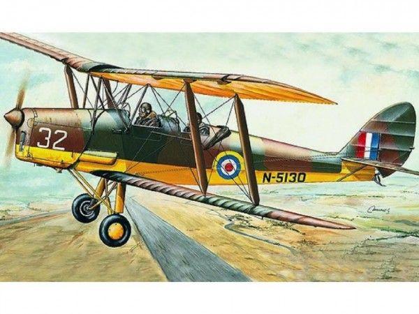 Model D.H.82 Tiger Moth 15,4x19cm v krabici 31x13,5x3,5cm Směr
