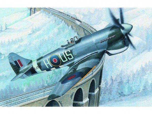 Model Hawker Tempest MK.V 14,2x17,3cm v krabici 25x14,5x4,5cm Směr