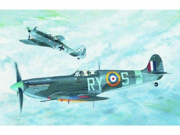 Model Supermarine Spitfire MK.VB 12,8x13,6cm v krabici 25x14,5x4,5cm Směr