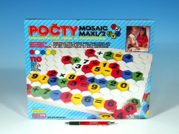 Mozaika Maxi/2 Počty 110ks v krabici 35x29x3,5cm Vista