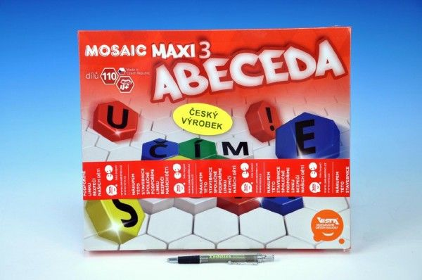 Mozaika Maxi/3 Abeceda 110ks v krabici 35x29x7,5cm Beneš a Lát