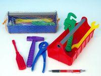 Nářadí ve skříňce plast 24x9,5x11cm asst 2 barvy v síťce