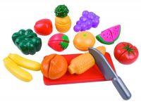 Ovoce a zelenina krájecí plast v krabičce sady pro malé hospodyňky Teddies