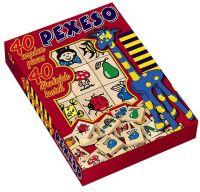 Pexeso dřevo společenská hra 40ks v krabici 17x25x2cm Detoa