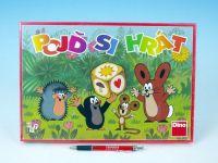 Pojď si hrát Krtek dětská společenská hra 33x23x3,5cm v krabici