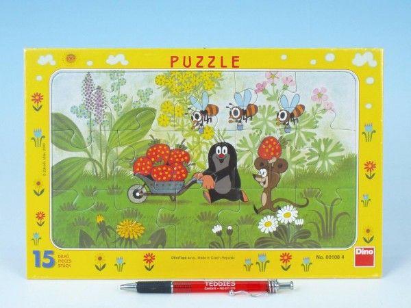 Puzzle deskové Krtek na výletě 29,5x19cm 15 dílků Dino