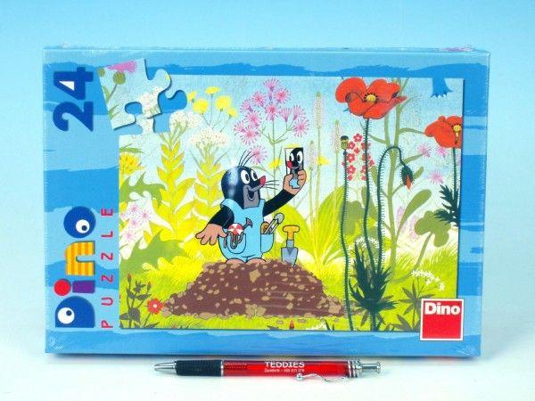 Puzzle Krtek v kalhotkách 26,4x18,1cm 24 dílků v krabici 27x19x3,5cm Dino