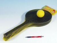 Softtenis plast černý+míček 53cm v síťce