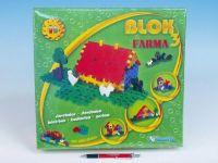 Stavebnice Blok 3 Farma plast 197ks v krabici 35x33x8cm