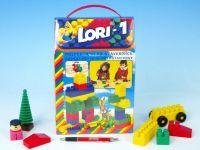 Stavebnice LORI 1 plast 50ks v krabici 19x28x10cm