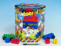 Stavebnice LORI 4 plast 100ks v krabici 23x25x20cm