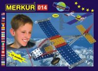 Stavebnice MERKUR 014 Letadlo 10 modelů 141ks v krabici 26x18x5cm Merkur Toys