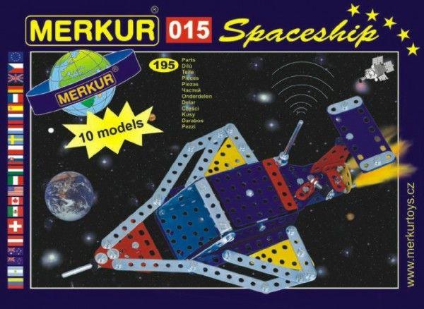 Stavebnice MERKUR 015 Raketoplán 10 modelů 195ks v krabici 26x18x5cm Merkur Toys