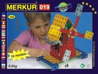 Stavebnice MERKUR 019 Mlýn 10 modelů 182ks v krabici 26x18x5cm Merkur Toys
