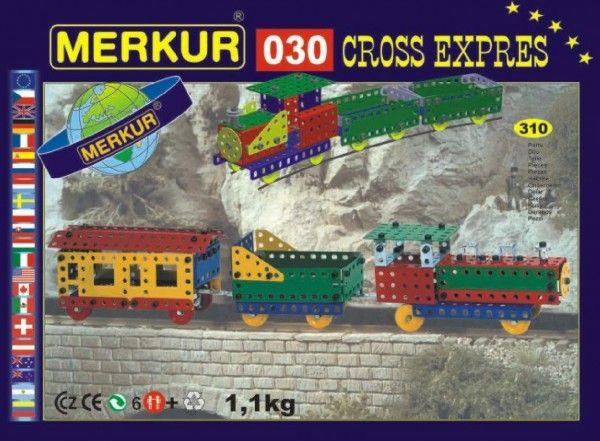Stavebnice MERKUR 030 Cross expres 10 modelů 310ks v krabici 36x27x3cm Merkur Toys