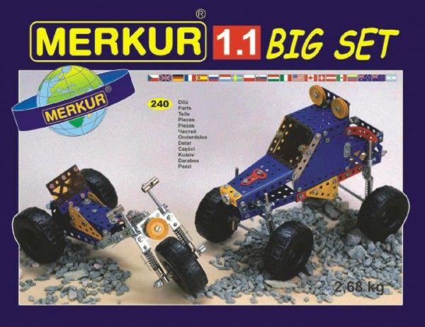 Stavebnice MERKUR 1.1 10 modelů 240ks v krabici 36x26,5x5,5cm Merkur Toys