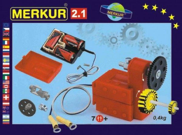Stavebnice MERKUR 2.1 Elektromotorek v krabici Merkur Toys