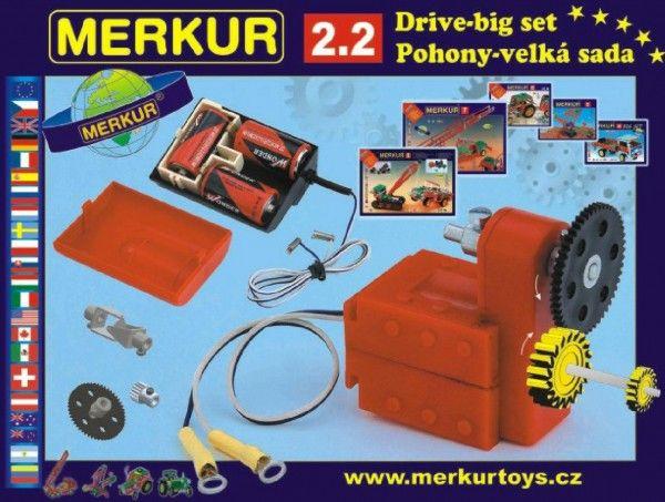 Stavebnice MERKUR 2.2 Pohony a převody v krabici Merkur Toys