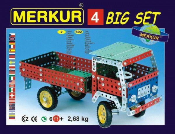 Stavebnice MERKUR 4 40 modelů 602ks 2 vrstvy v krabici 36x26,5x5,5cm Merkur Toys
