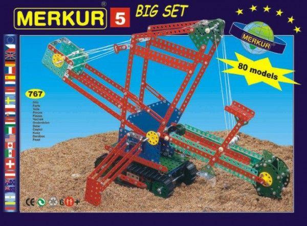 Stavebnice MERKUR 5 80 modelů 767ks v krabici 36x27x8cm Merkur Toys