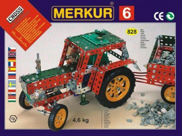 Stavebnice MERKUR 6, 100 modelů 940ks 4 vrstvy v krabici 54x36x6cm Merkur Toys