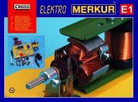 Stavebnice MERKUR E1 elektřina, magnetizmus v krabici Merkur Toys