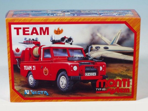 Stavebnice Monti 03 Team 21 Land Rover 1:35 v krabici 22x15x6cm Vista