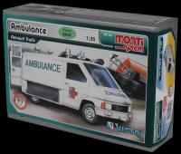 Stavebnice Monti 06 Ambulance Renault Trafic 1:35 v krabici 22x15x6cm Vista