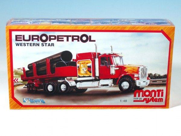 Stavebnice Monti 26 Europetrol Western star 1:48 v krabici 32x20,5x7,5cm Vista