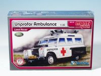 Stavebnice Monti 35 Unprofor Ambulance Land Rover 1:35 v krabici 22x15x6cm Vista