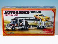 Stavebnice Monti 39 Autorodeo trailer Western star 1:48 v krabici 32x20x7,5cm Vista