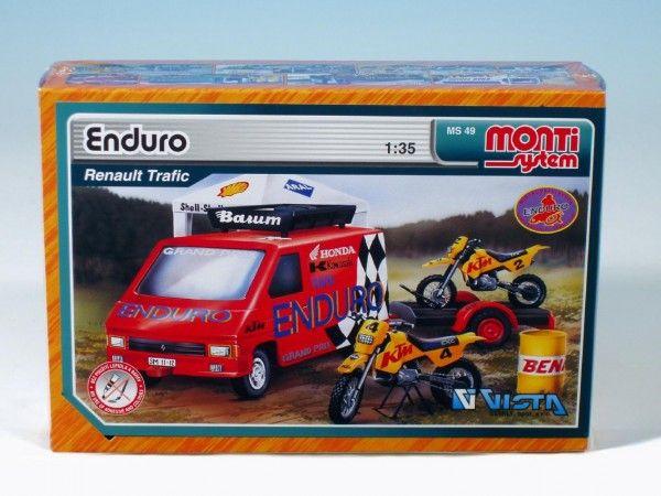 Stavebnice Monti 49 Enduro Renault Trafic 1:35 v krabici 22x15x6cm Beneš a Lát