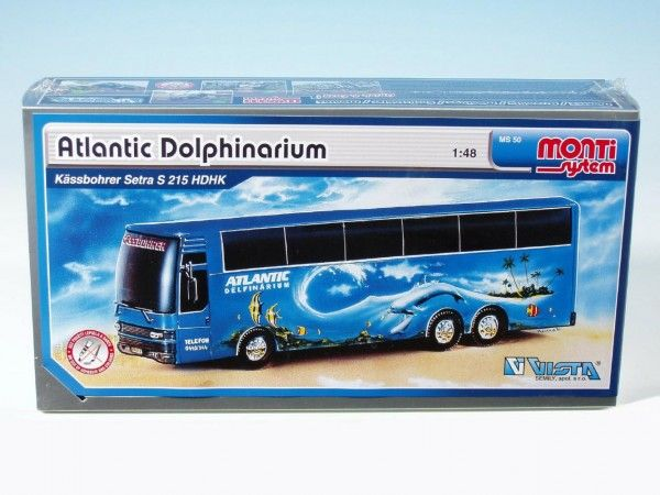 Stavebnice Monti 50 Atlantic Delfinarium Bus 1:48 v krabici 31,5x16,5x7,5cm Vista