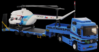 Stavebnice Monti 58 Actros L-MB Helitransport 1:48 v krabici 32x20,5x7,5cm Vista