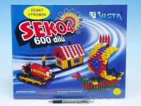 Stavebnice Seko 4 plast 600ks v krabici 35x29x3,5cm Beneš a Lát
