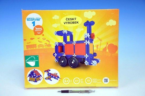Stavebnice Seva 1 plast 222ks v krabici 34,5x29x4cm Vista