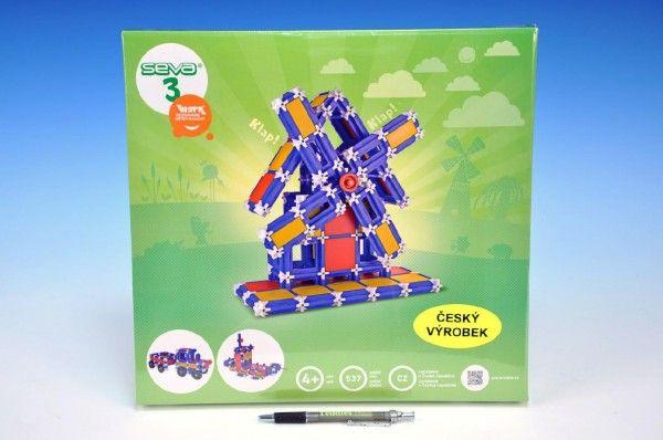 Stavebnice Seva 3 plast 537ks v krabici 35x33x5cm Vista