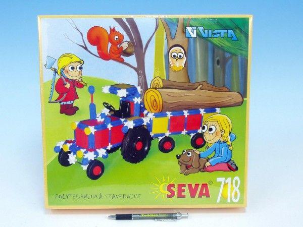 Stavebnice Seva plast 718ks v krabici 35x33x8cm Vista