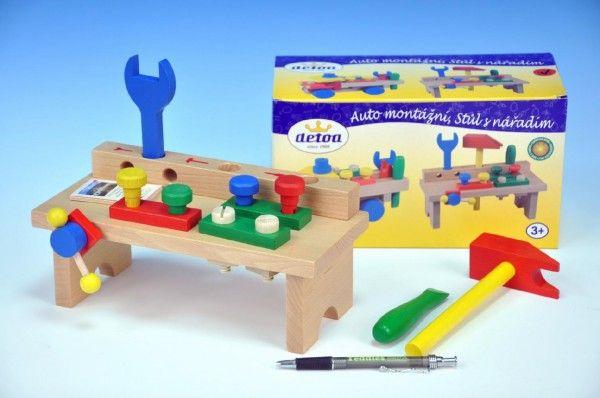 Stůl s nářadím Detoa dřevo 8ks v krabici 25x14x12cm, český výrobek