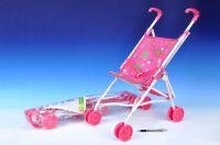 Kočárek pro panenky golfové hole kov/plast 27x55x52cm v sáčku