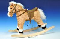 Kůň houpací plyš 60cm na baterie se zvukem