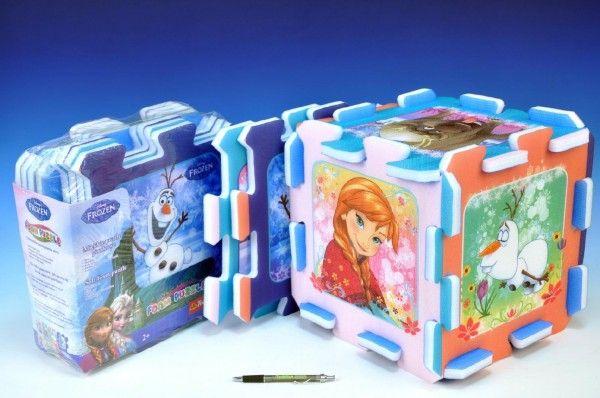 Pěnové puzzle Ledové království/Frozen 32x32x1cm 8ks v sáčku Trefl