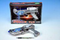 Laserová pistole na baterie plast 22cm se zvukem a se světlem v krabici